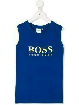 Boss Kids logo print vest - Blue