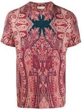 Etro paisley-print T-shirt - Red