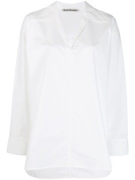 Acne Studios peasant-inspired boxy shirt - White