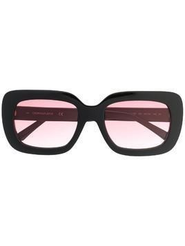 Calvin Klein Jeans oversized square sunglasses - Black