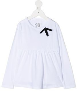 Douuod Kids peplum hem top - White