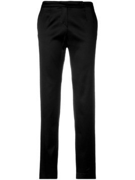 Giorgio Armani Pre-Owned slim cropped trousers - Black