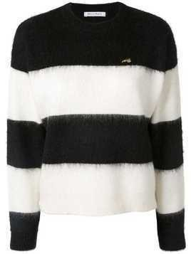 Bella Freud striped long-sleeve sweater - White