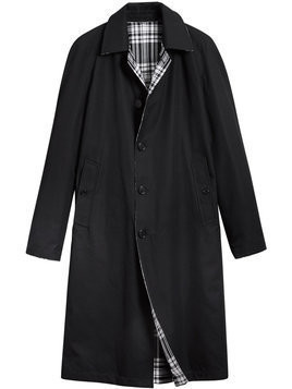 Burberry - Reversible Gabardine and Tartan Wool Car Coat - Herren - Cotton/Wool - 54 - Black