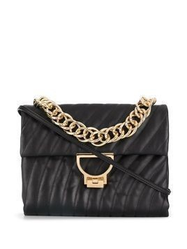 Coccinelle quilted chain-handle tote - Black
