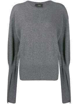 Maison Flaneur cashmere open sleeves jumper - Grey