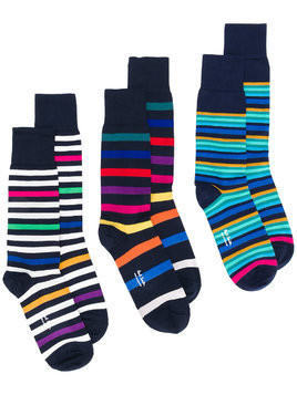 Ps By Paul Smith striped socks 3 pack - Blue