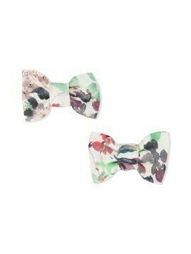 Bonpoint bow hair clips set - White