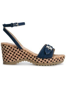 Stella McCartney denim Linda wedge sandals - Blue