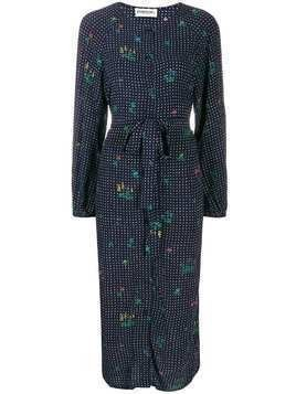 Essentiel Antwerp Tata dotted shirt dress - Blue