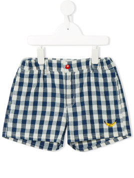 Bobo Choses checked elasticated shorts - Blue