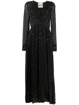 Aniye By chiffon stone embellished evening dress - Black