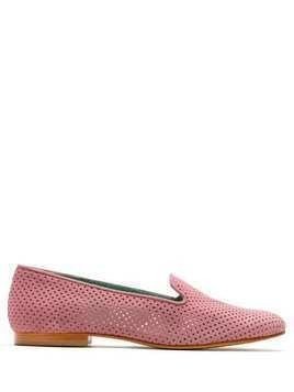 Blue Bird Shoes Saudade suede loafers - PINK
