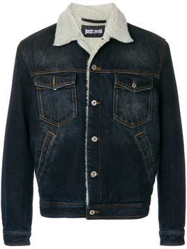 Just Cavalli shearling graphic jacket - Blue