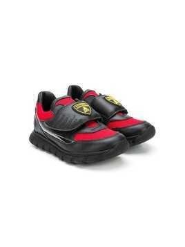 Bumper TEEN Lamborghini patch sneakers - Black