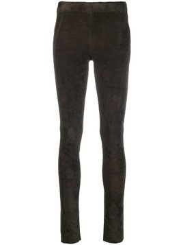 Arma leather skinny trousers - Grey