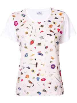 Ps By Paul Smith scattered conversational printed T-shirt - White