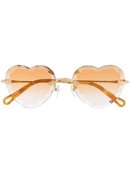Chloé Eyewear heart shaped sunglasses - Yellow