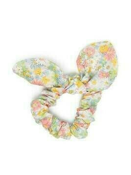 Bonpoint floral-print hair scrunchie - White