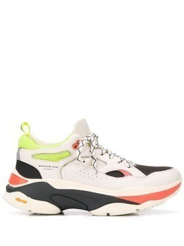 Brandblack colour block sneakers - White
