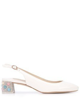 Sophia Webster Alice slingback pumps - White