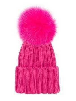 Catya Kids pompom knitted hat - Pink