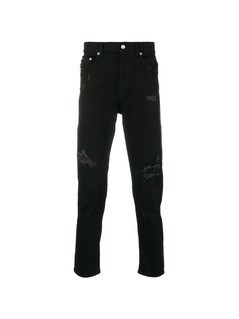 Love Moschino distressed skinny trousers - Black