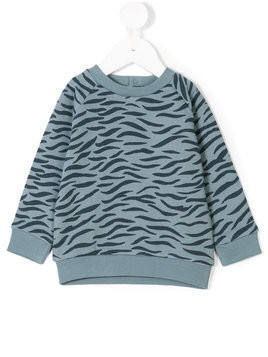 Stella Mccartney Kids tiger print sweatshirt - Blue