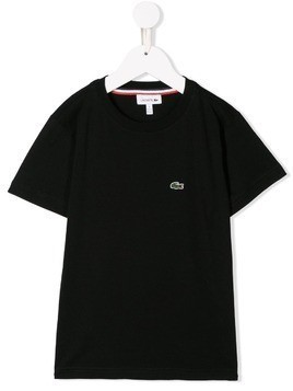 Lacoste Kids embroidered logo T-shirt - Black