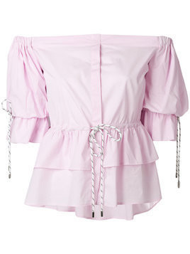 Christian Pellizzari strapless shirt - Pink