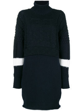 Givenchy layered knit dress - Blue