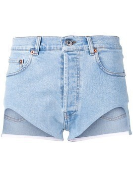 Forte Dei Marmi Couture cut-out denim shorts - Blue