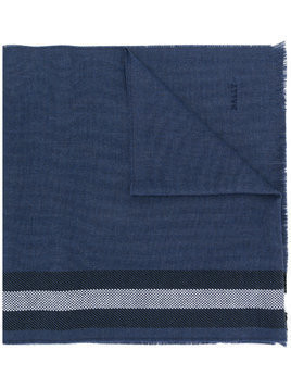 Bally striped knitted scarf - Blue
