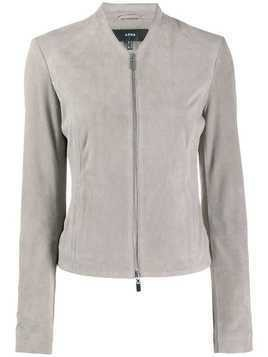 Arma zipped fitted jacket - Grey