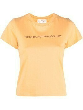 Victoria Victoria Beckham logo crew-neck T-shirt - Orange