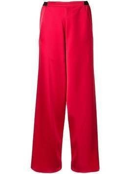 Christopher Esber high-rise wide leg trousers - Red