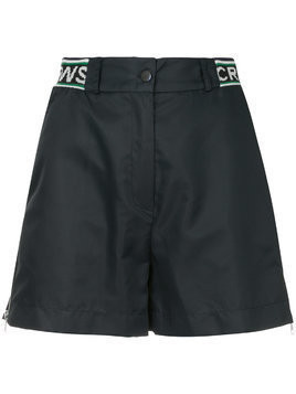 Andrea Crews elasticated waist shorts - Blue