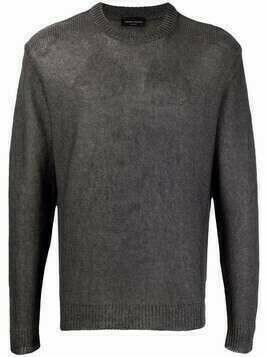 Roberto Collina striped crew-neck jumper - Grey