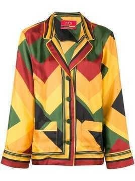 F.R.S For Restless Sleepers geometric print blouse - Multicolour