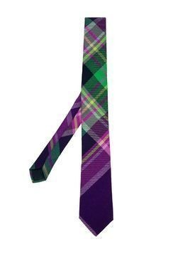 Oscar De La Renta Kids plaid tie - Pink & Purple