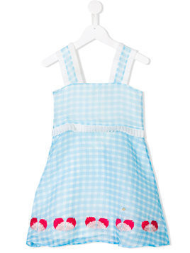 Le Mu gingham dress - Blue