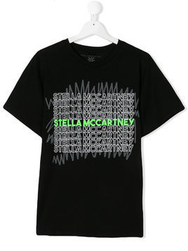 Stella Mccartney Kids TEEN logo print T-shirt - Black