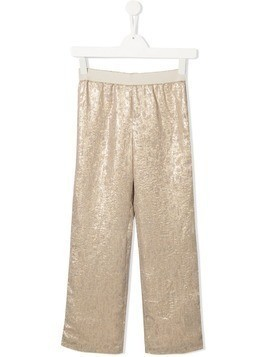 La Stupenderia metallic wide leg trousers