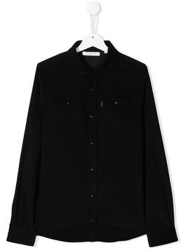 Givenchy Kids TEEN corduroy long sleeve shirt - Black