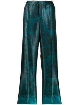F.R.S For Restless Sleepers straight-leg patterned trousers - Blue