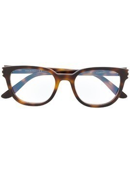 Cartier square frame glasses - Brown