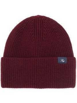 Fay knitted beanie hat - Red