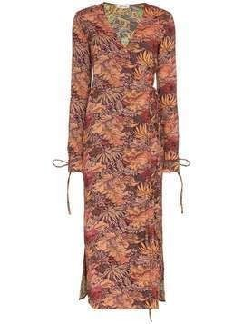 Attico jacquard maxi robe dress - Multicolour