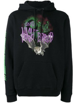 Marcelo Burlon County Of Milan front printed hoodie - Black