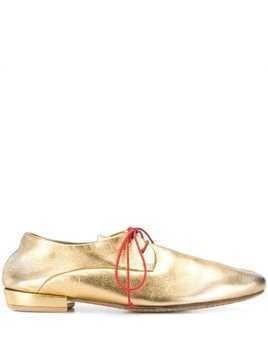 Marsèll metallic brogue shoes - GOLD